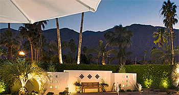 Pool evening at The Hacienda in Gay Palm Springs