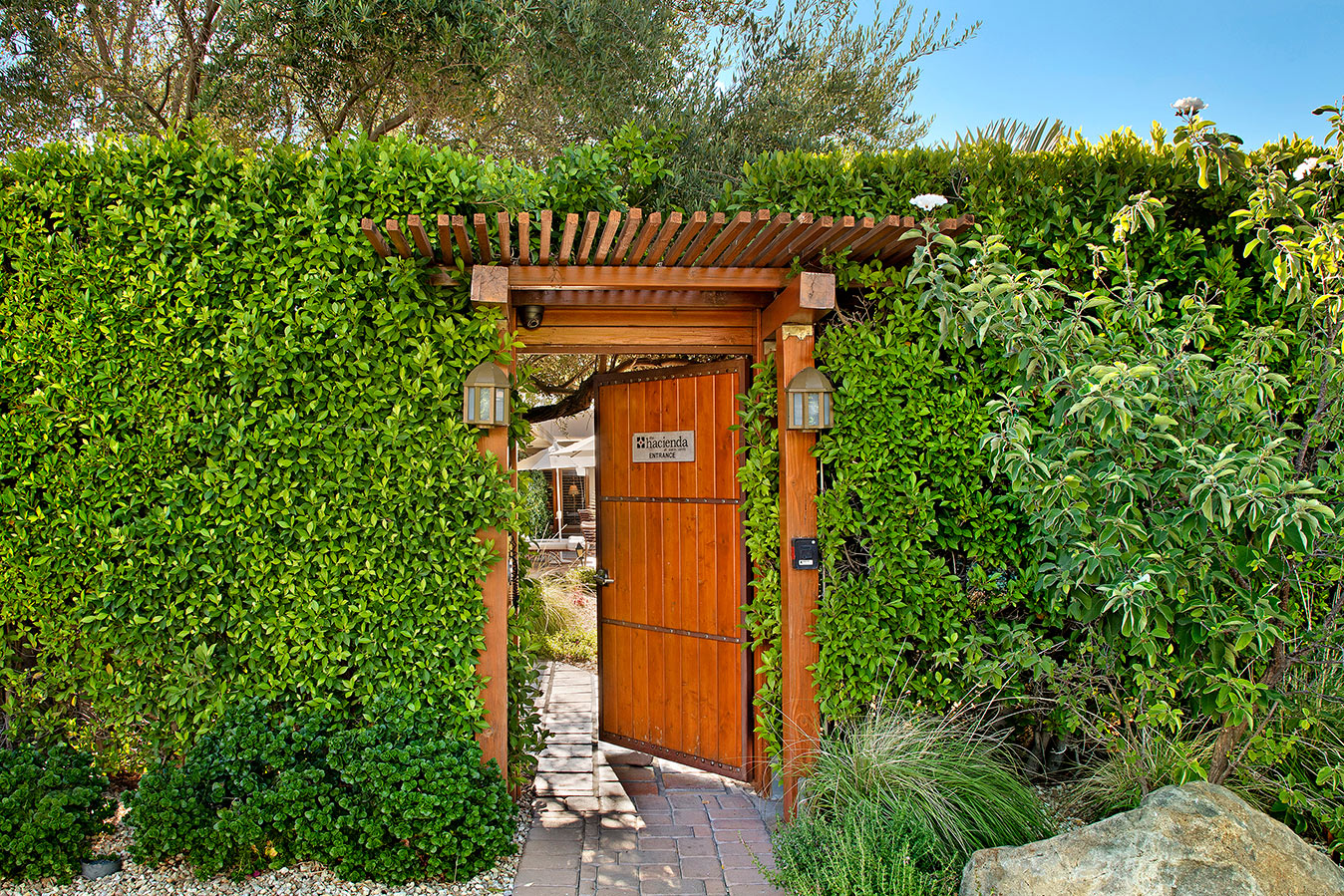 Front Gate at The Hacienda in Gay Palm Springs