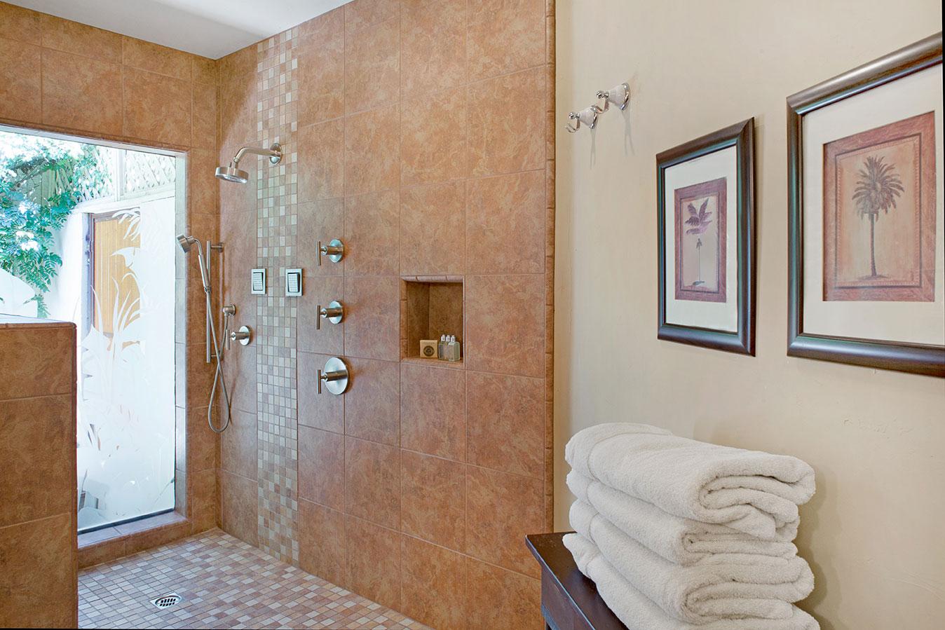 Deluxe Junior Suite bathroom at The Hacienda in Gay Palm Springs