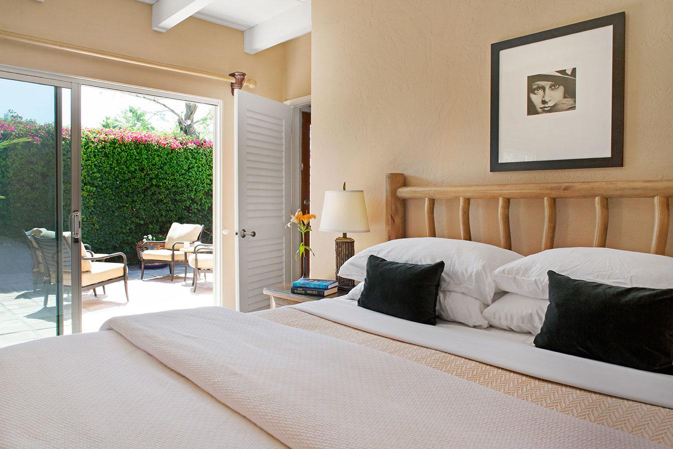 Grand Deluxe Suite bedroom at The Hacienda Gay Resort