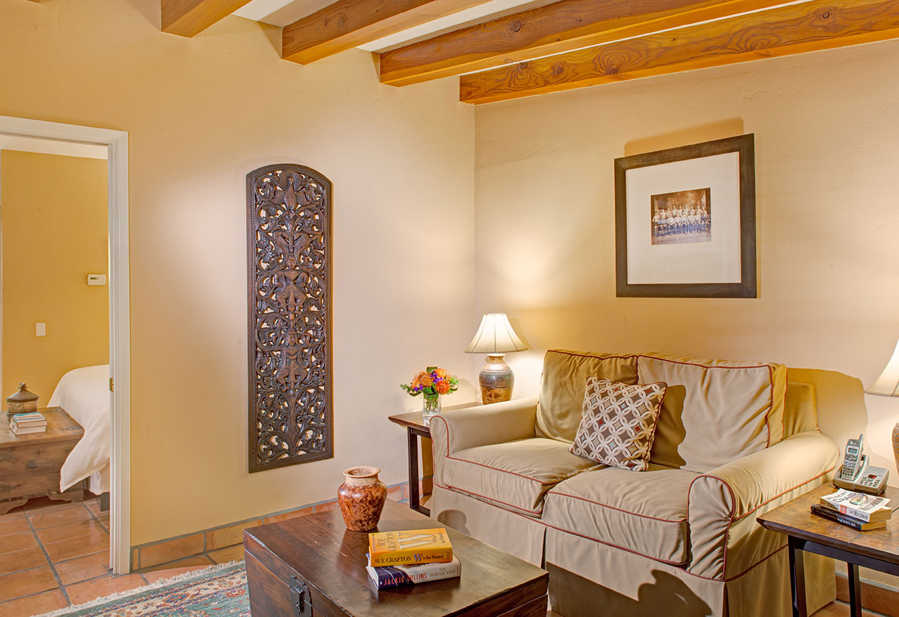 Junior Suite living room at The Hacienda in Gay Palm Springs