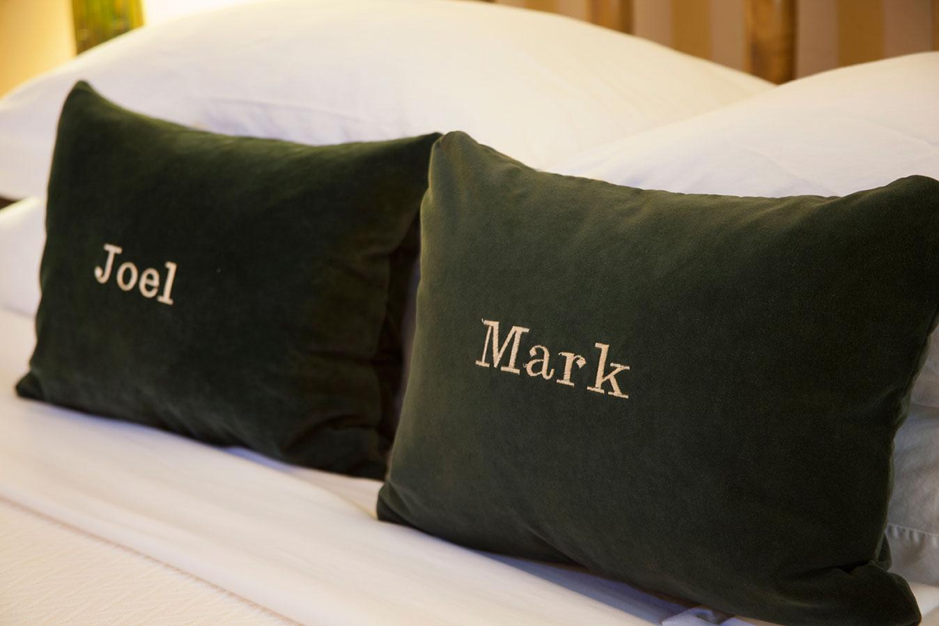 Custom Pillows at The Hacienda in Gay Palm Springs